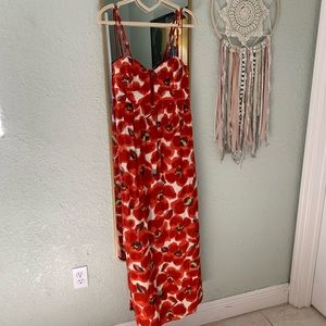 Foral Maxi Dress with Pockets